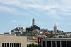 View from Pier 39 - Coit Tower and Transamerica Pyramid