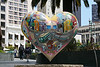"<b>Union Square</b> - Hearts in San Francisco was a Bay Area-wide ""heart installation"" that debuted in the spring of 2004. While similar to Chicago's ""Cows on Parade,"" the San Francisco version used a heart icon, appropriate for a city that is recognized for its acceptance and tolerance, as well as being perennially open-hearted.<br> <br> Over 130 recognized and emerging artists transformed heart sculptures into unique works of art. These hearts were installed on sidewalks, plazas, parks, and street corners throughout the San Francisco Bay Area. On February 14, 2004, the first two Hearts were unveiled in a kick-off event in Union Square."
