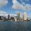 San Diego skyline from harbor cruise boat