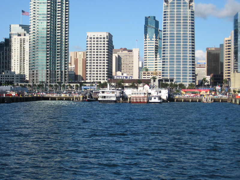 Returning to the dock on San Diego harbor cruise
