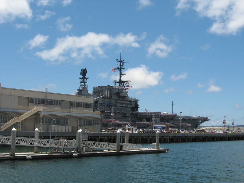 USS Midway--WWII era aircraft carrier--now a museum