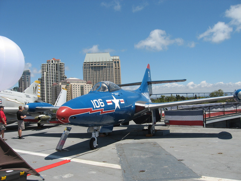 Plane on deck of USS Midway