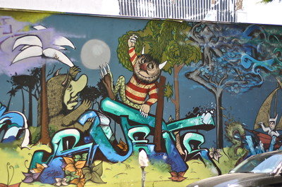 Where The Wild Things Are street art
