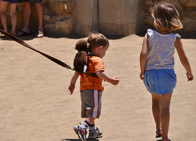 Baby on a leash!!