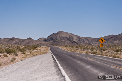 Heading into Death Valley from Las Vegas