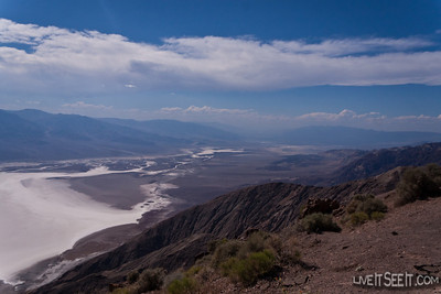 Death Valley National Park - Dante's View looking over Badwater towards Furnace Creek