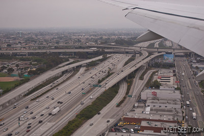 Crazy LA Freeways - getting a look at what I was about to drive on.