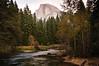 Merced River and Half Dome, Yosemite National Park, California
