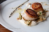 Carmelized diver scallops, cauliflower purée, almonds and balamic reduction at Redd in Yountville in Napa Valley.