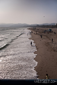 Santa Monica beachfront from the Pier