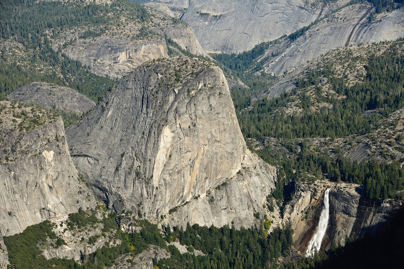 Liberty Cap and Vernal Falls from Glacier Point, Yosemite National Park, California