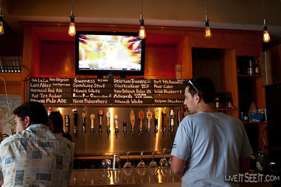 First bar, a small one in Santa Monica serving many of the Californian Craft beers