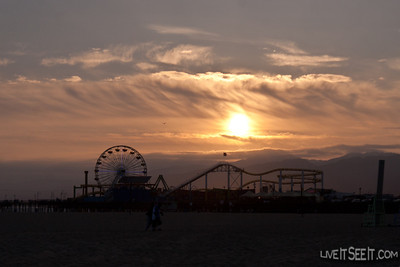 Sunset over Santa Monica Pier