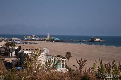 Santa Monica beachfront and Pier