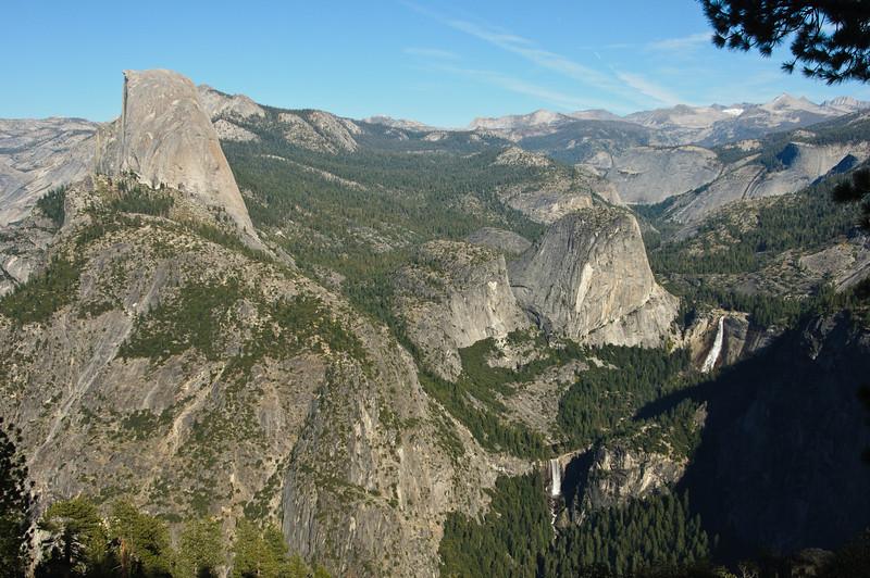 Half Dome, Liberty Cap, Nevada Falls, Vernal Falls from Glacier Point, Yosemite National Park, California