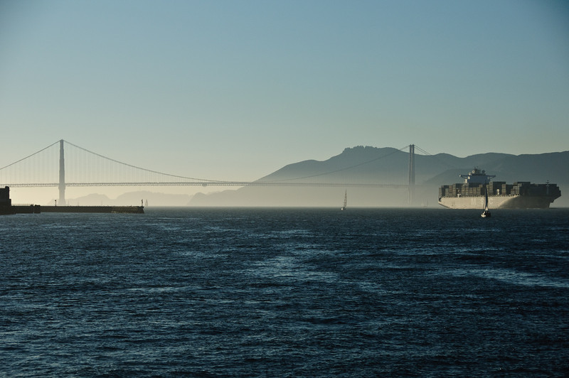 The Golden Gate Bridge and Marin Headlands from Pier 39