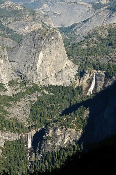 Liberty Cap, Nevada Falls, Vernal Falls from Glacier Point, Yosemite National Park