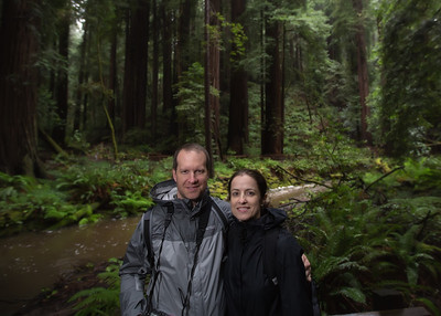 Nestor and Jamie at Muir Woods