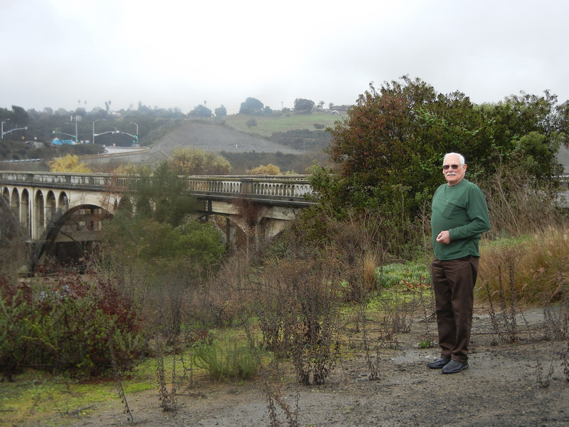 We visited this bridge that Larry's Grandfather helped build near Fallbrook, CA.