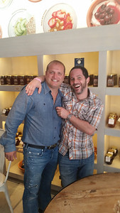 Dave Subotic and me in his Go Greek Yogourt Store, Beverly Hills