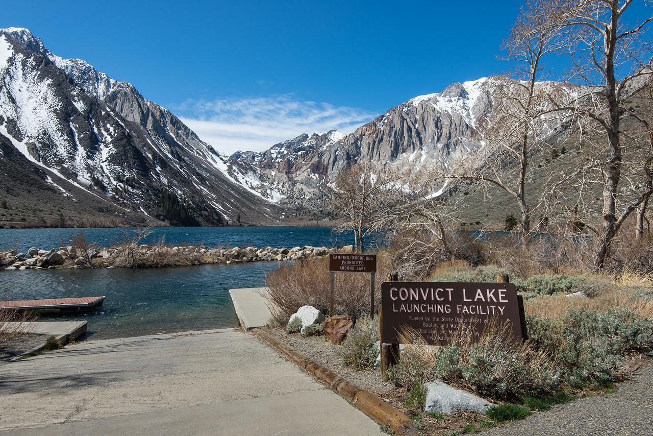 Convict Lake near Mammoth Lakes, California - April 2016