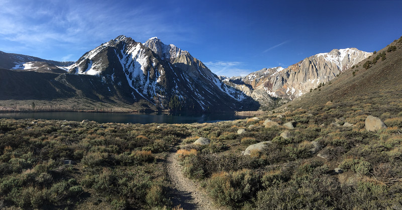 Trail leading to Convict Lake near Mammoth Lakes, California - April 2016