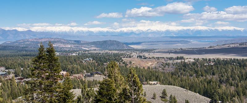 Panoramic of Mammoth Lakes, California - April 2016