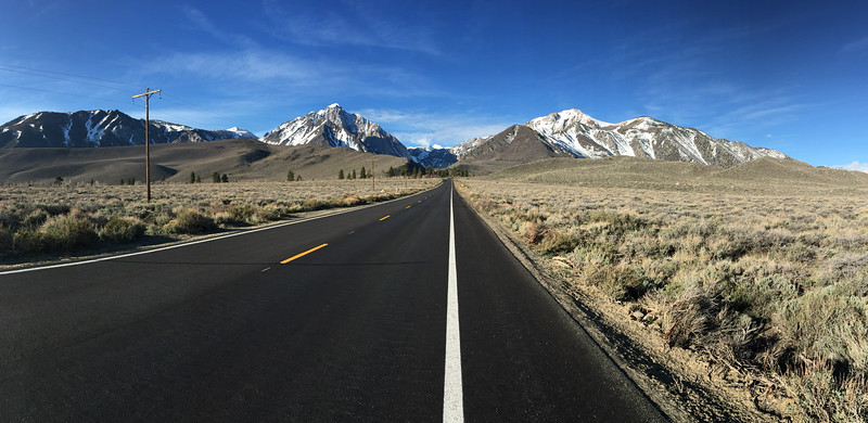 Approaching Mammoth Lakes, California - April 2016