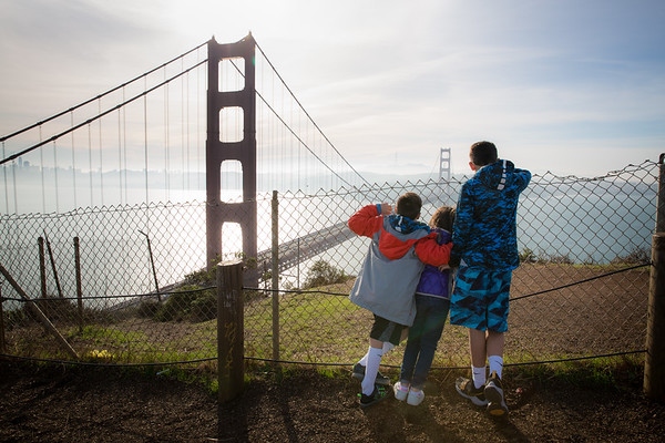 Kids at Golden Gate