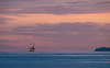 Sunset over the Channel Islands & offshore oil rig