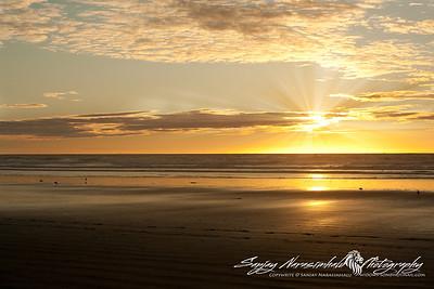 Sunset off Moro Bay, California December 30, 2009