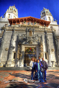 Narasimhalu Family at Hearst Castle, California, December 22, 2009