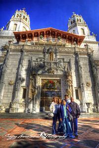 Narasimhalu Family at Hearst Castle, California, December 22, 2009