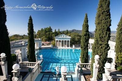 Hearst Castle View & Pool, California, December 22, 2009