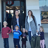 All together at Santa Barbara airport.  Annemarie and her 3.  Burke - 5 1/2 , Blake - 4 in February & Mallory - 2 in January.  Taylor & Karis - 3.