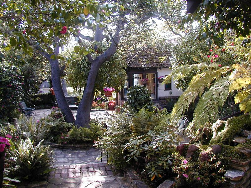 Courtyard of Vagabond's Inn, Carmel