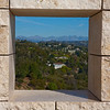 View through wall at J Paul Getty Museum