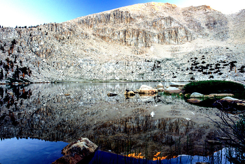 Mountain lake in Sierra-Nevada's - July 1989