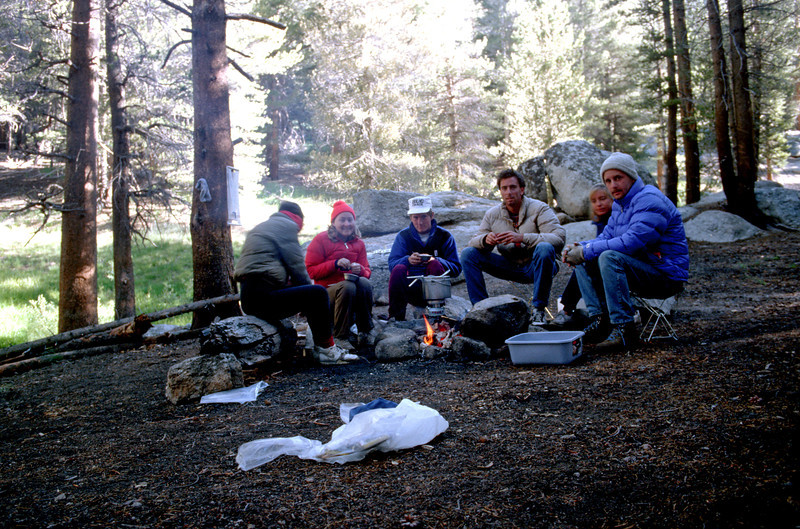 Early morning at campsite, Sierra-Nevada's - July 1989