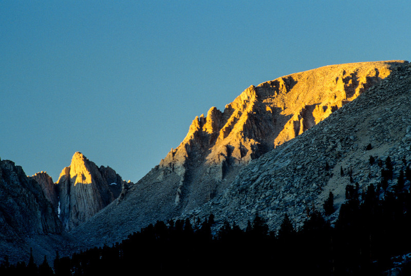 West face of Mount Whitney in low light, Sierra-Nevada's - July 1989