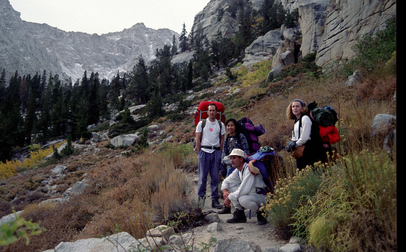 On the trail to Trail Camp, Sierra-Nevada's - October 1993