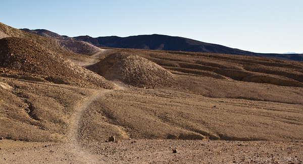 Death Valley National Park, heading south from the Golden Canyon trailhead