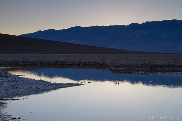 at sunset, near Badwater in Death Valley National Park