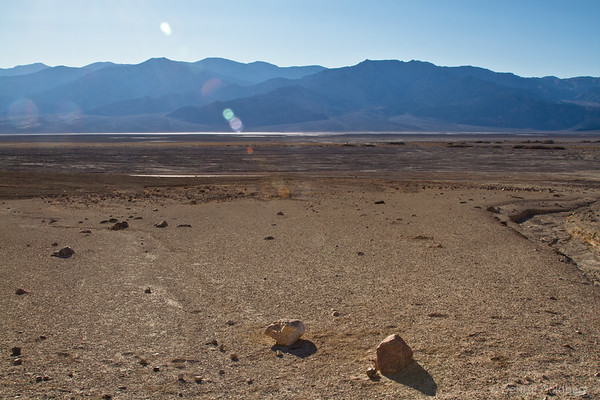 Death Valley in sunshine