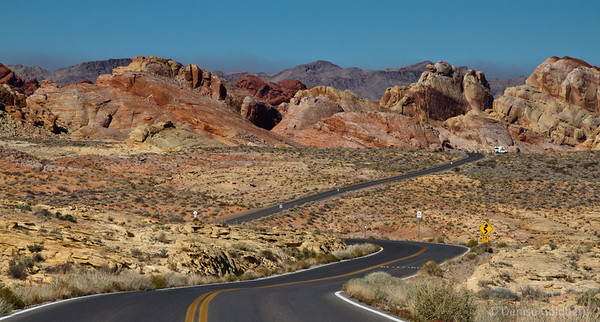 a winding road, Valley of Fire State Park