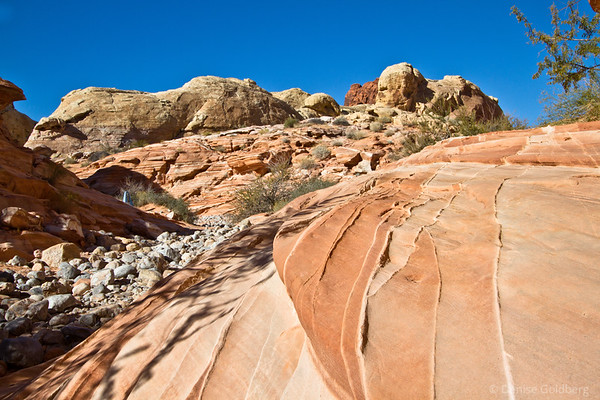 Valley of Fire, pure blue sky