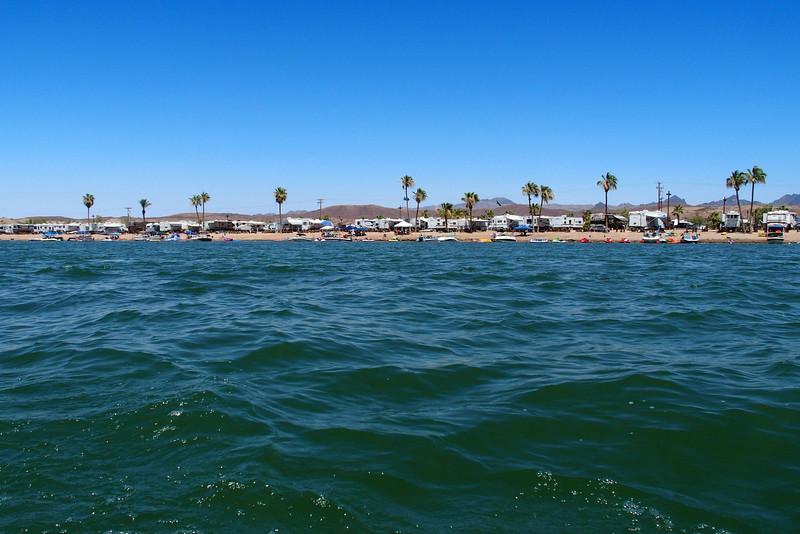 Emerald Cove RV Resort on the California side of the Colorado River