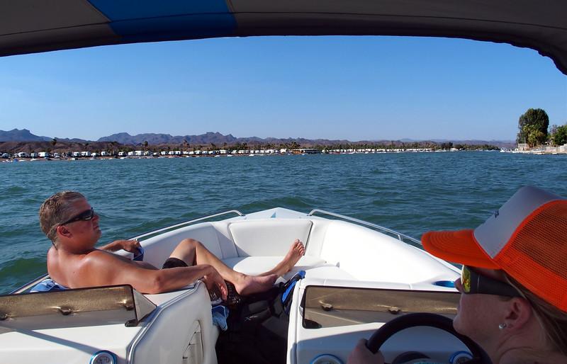 Brian and Havy, Colorado River, Emerald Cove RV Resort