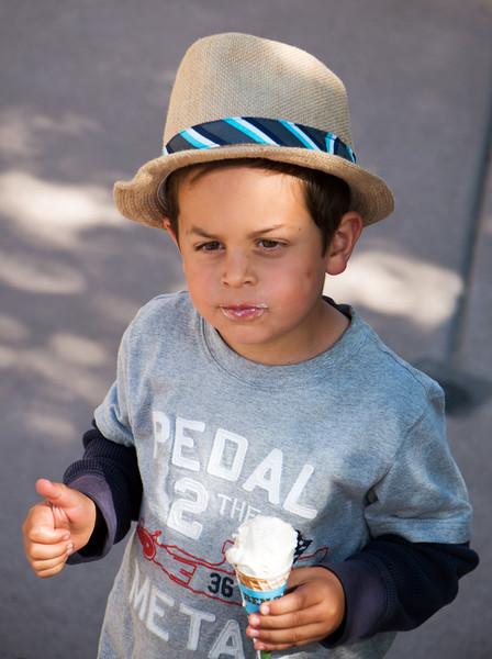 Dimitri Likes Ice Cream in Mammoth