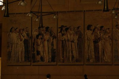 Tapestries at Los Angeles cathedral